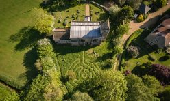 Maze at St Margaret's Church, Luddington in the Brook 2020