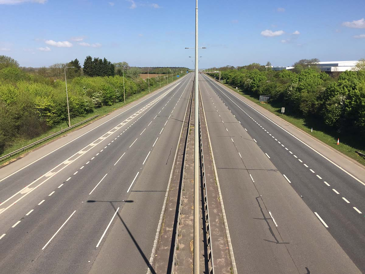 A1 at Alconbury deserted on a week day