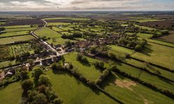 Aerial view of Great Gidding from north west