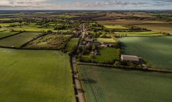 Aerial view of Great Gidding from the north
