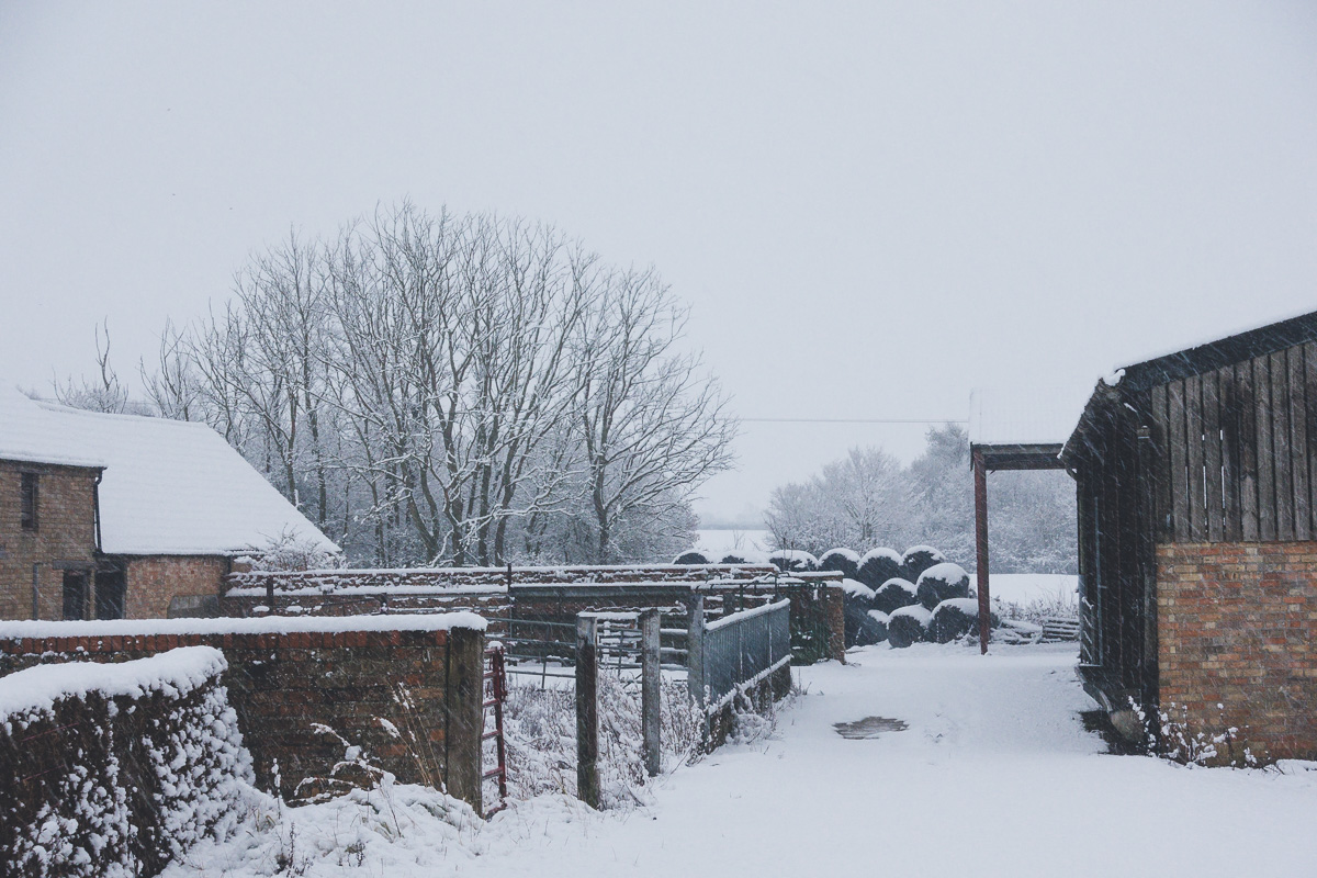 Great Gidding in the snow January 2021 - Chapel End farm
