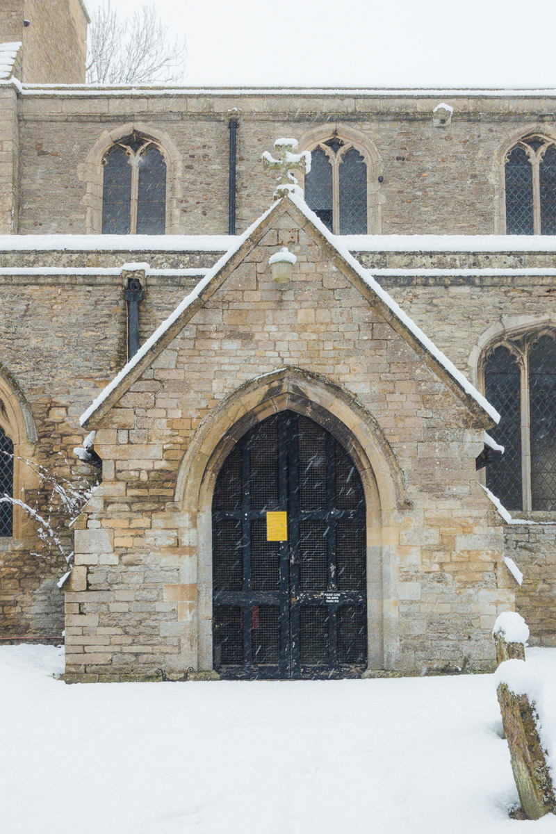 Great Gidding in Winter 2021- St Michael's porch