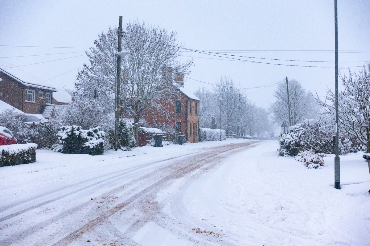 Great Gidding in the snow January 2021 - Main Street North