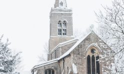 Great Gidding in the snow January 2021 - St Michael's Church