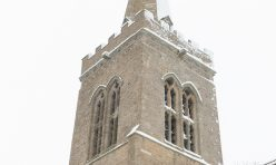Great Gidding in the snow January 2021 - St Michael's