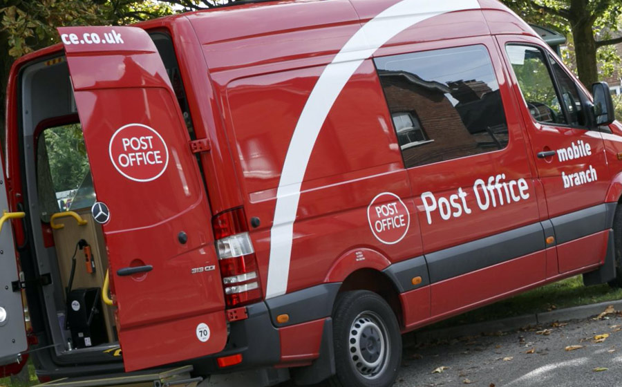 Post Office van in Great Gidding