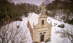 Little Gidding snow, January 2021 - St John's Church