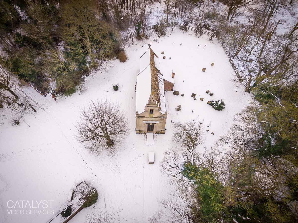 Little Gidding snow, January 2021 - St John's Church