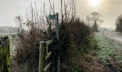 Footpath near Little Gidding, Jan 21