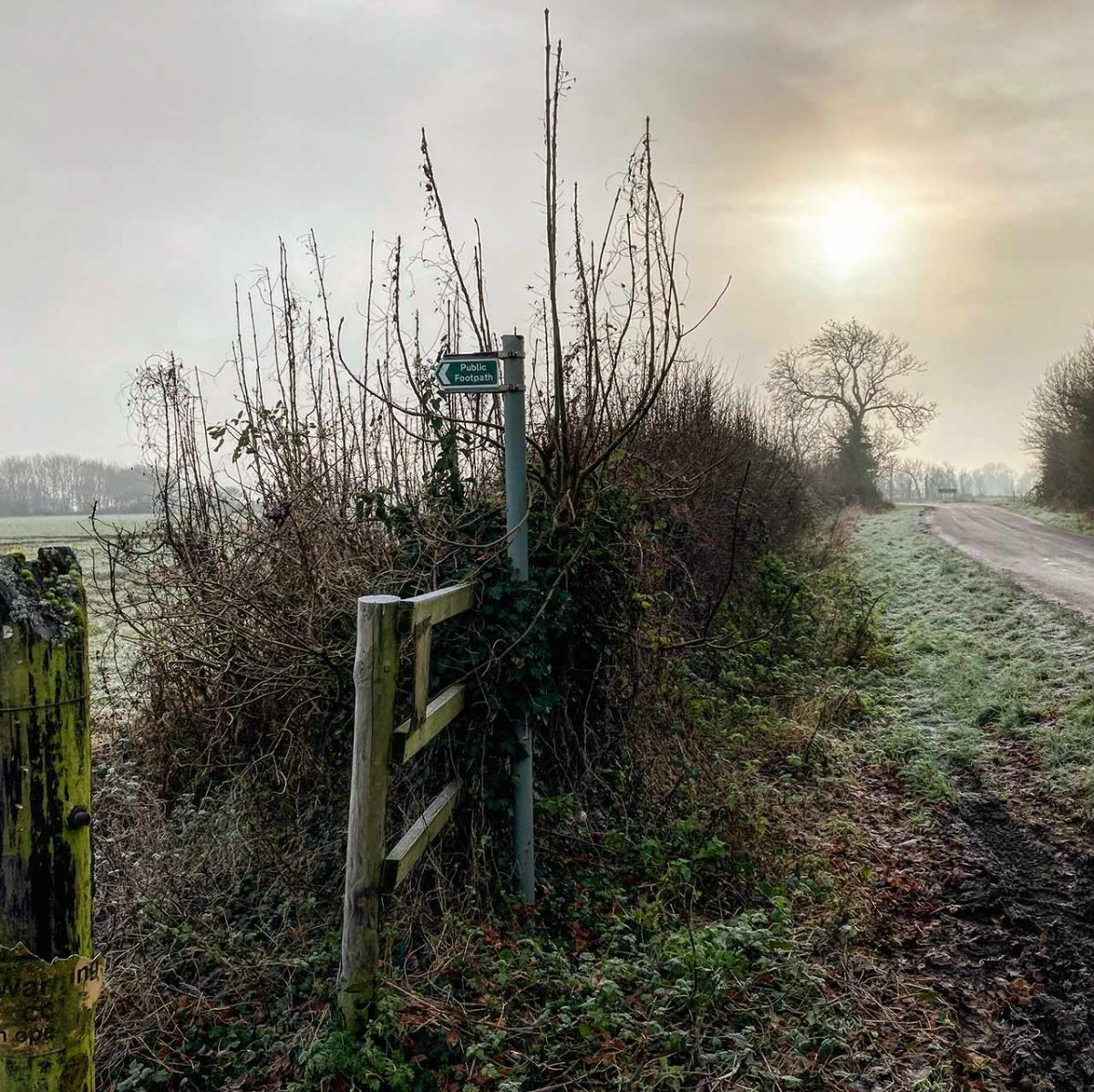 Footpath near Little Gidding Jan 21