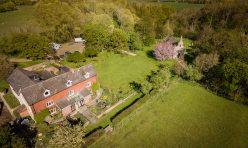 Little Gidding aerial photograph, Spring 2021