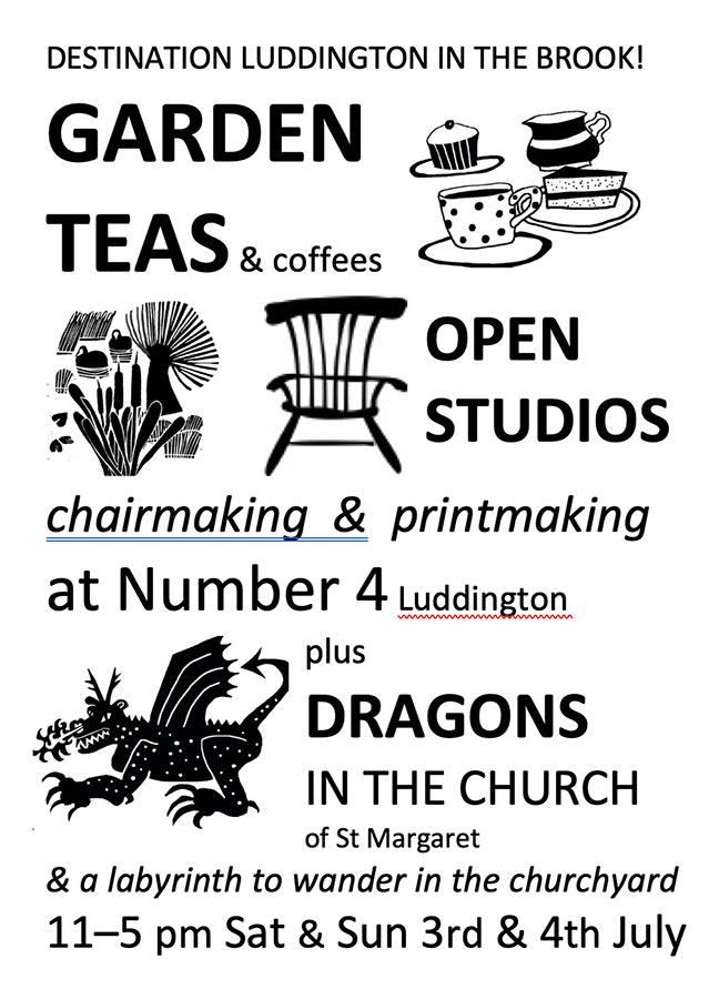 Dragons, art and teas in Luddington
